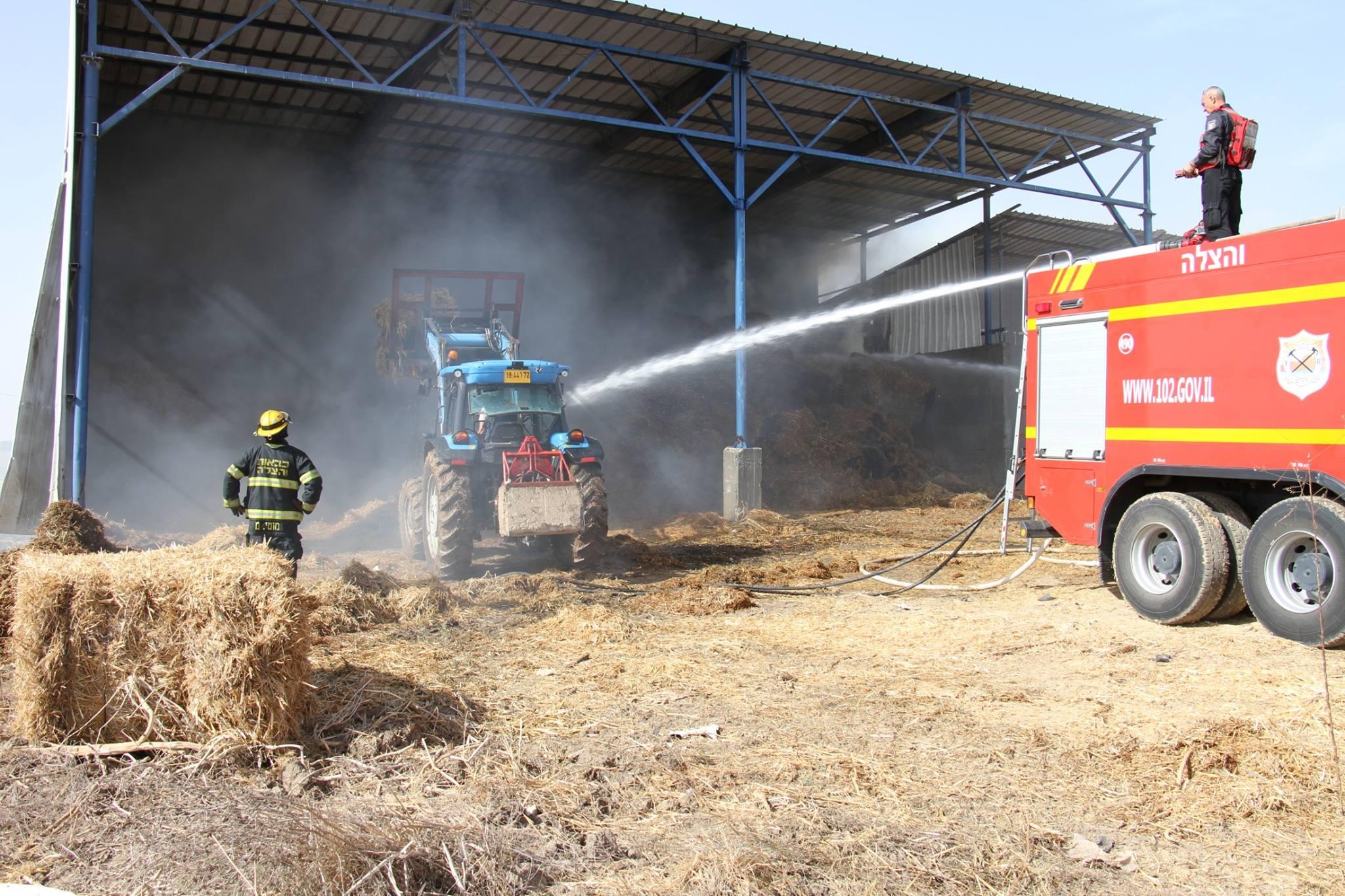 Fire at Kfar Silver