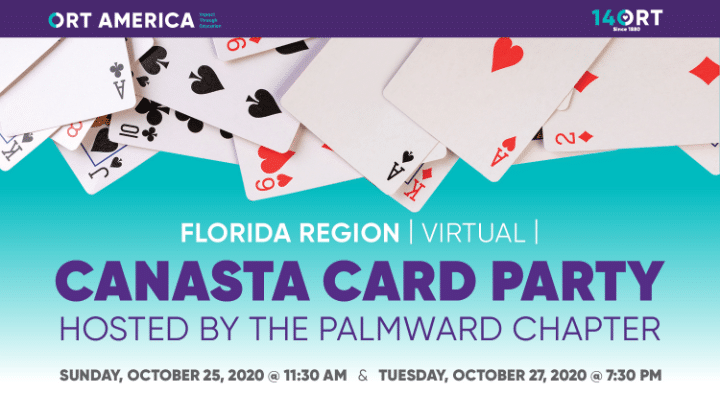 ORT Florida Canasta Card Party @ Hosted on Zoom